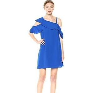Rachel Roy cobalt blue silk dress